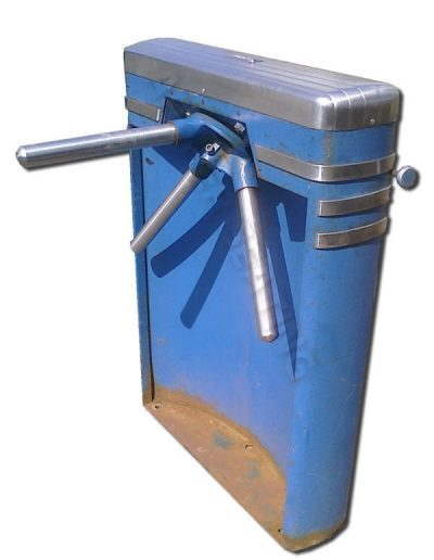 Blue Stadium Turnstile
