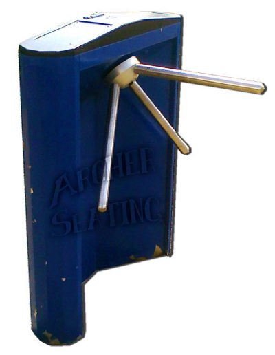 Navy Blue Stadium Turnstile