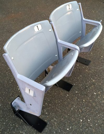 Gray American Seating stadium seats