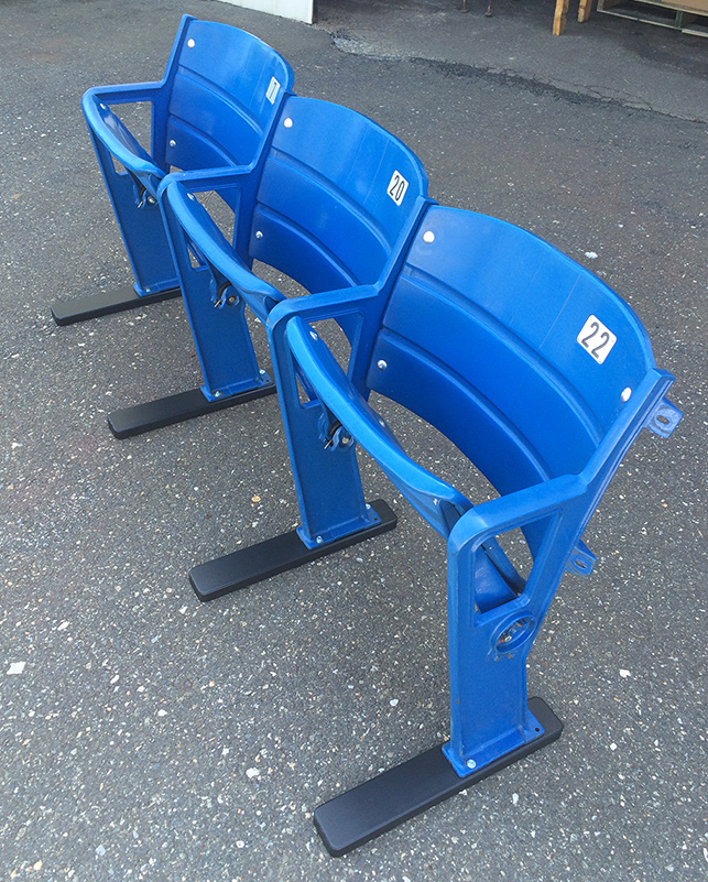 Triple Blue Veteran Stadium Seat