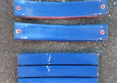 Blue Wooden Seat Boards