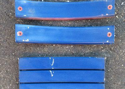 Blue Wooden Seat Boards