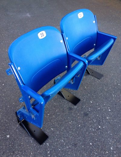 Blue Double Riser-Mount Seat