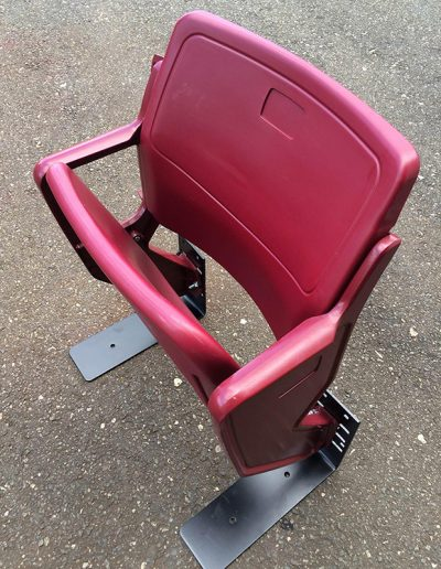 Darker Red Plastic Seat
