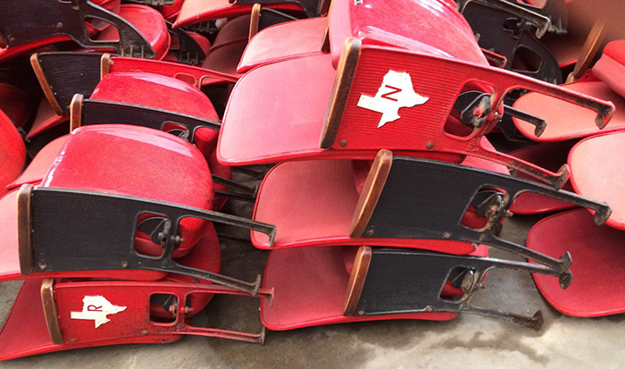 Red Figural Floor-mount Astrodome Seats