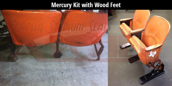 Astrodome Mercury Kit with Wood Feet
