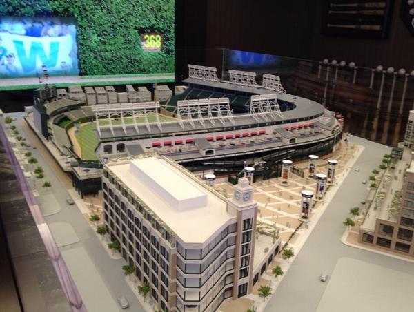 Wrigley Field Renovation Model on Display