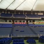 Views of the stadium seat pickup for fans buying Metrodome seats, (presented by Archer Seating)