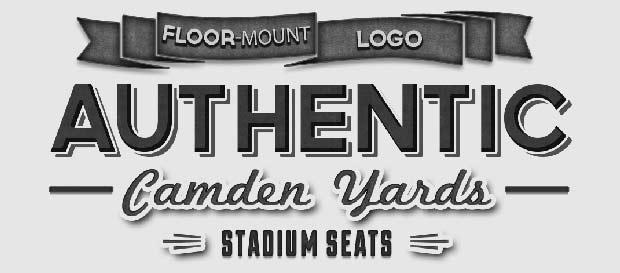 Camden Yards Floor–Mount Figural Stadium Seats