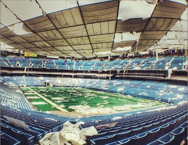 Inside the abandoned Pontiac Silverdome