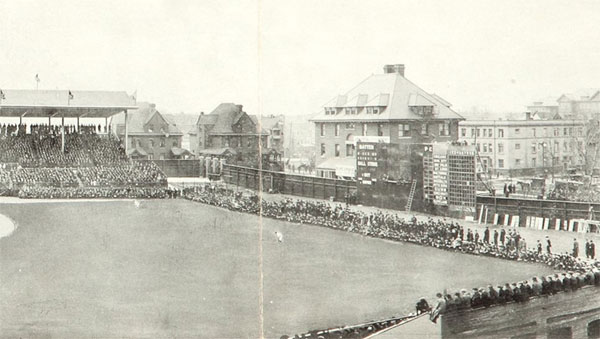 Wrigley Field's first game was 100 years ago today