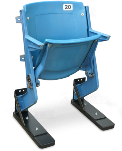 Silverdome stadium seat with Archer Seating's Bracket chair stands