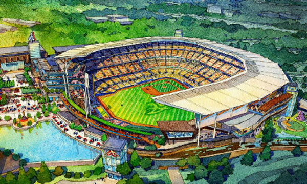 Drawings for Atlanta Braves' new stadium unveiled