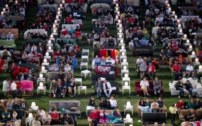 German stadium turned into giant living room for World Cup
