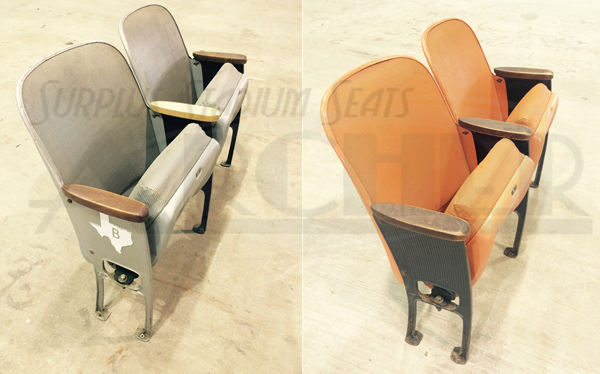 Set of 3 Wooden Feet for Astrodome Floor Mount Seats Available