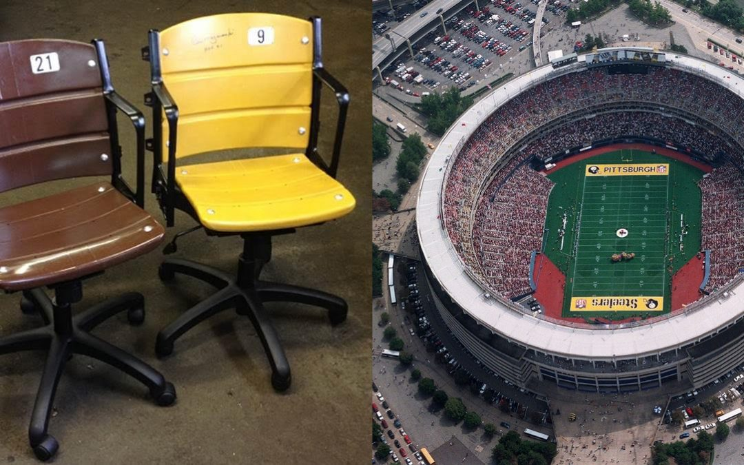 Three Rivers Stadium Seat Conversion to Office Chairs
