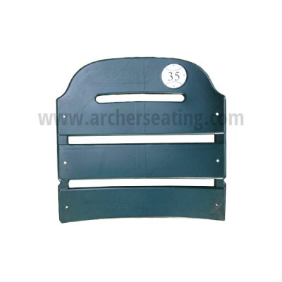 American Seating Comerica Park stadium seat back, #35 tag