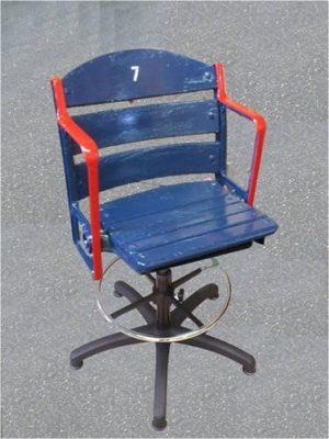Barstool Fenway Park wooden stadium ballpark seat