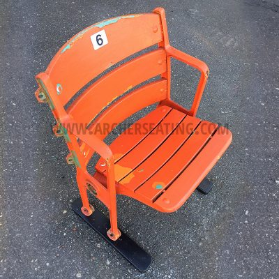 RFK Stadium Single Orange Seat
