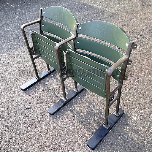 Vintage Wooden Ballpark Seats