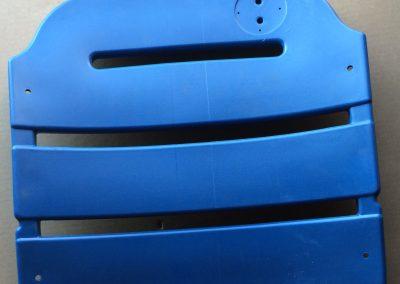 Blue Seat Back Plastic
