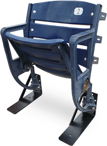 505 Single Riser Seat with Blue Plastics and Legs