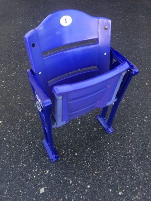 Coors Field Rockies logo stadium seat purple row
