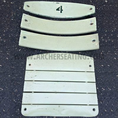 Stadium seat boards for American Seating Wrigley Tiger