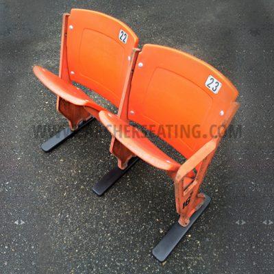 Chicago Bears' Soldier Field Orange Double Stadium Seat