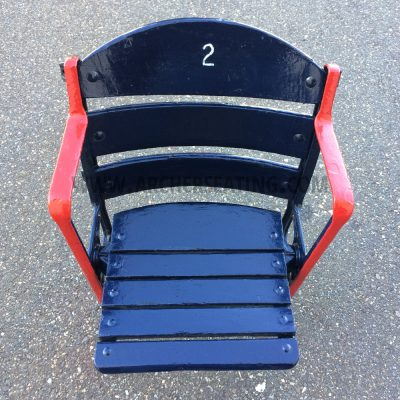 Restored #2 Fenway Park Wooden Seat with Exact Paint