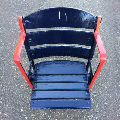 Restored #1 Fenway Park Wooden Seat with Exact Paint