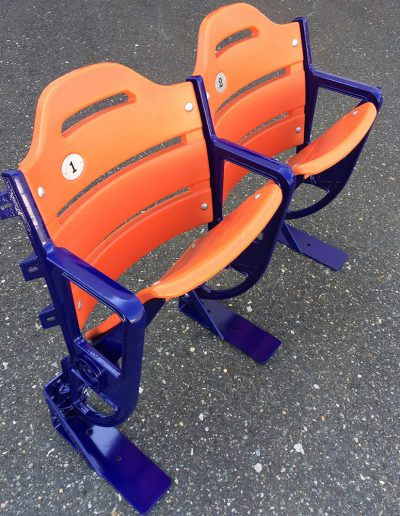 Orange Double Seat with Blue Legs