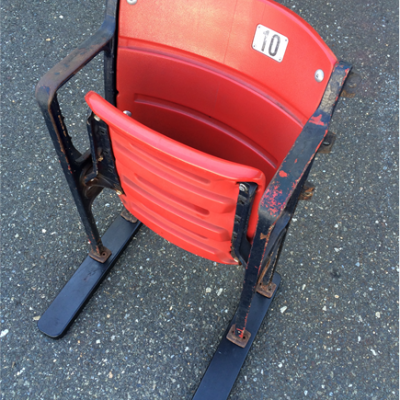 Fenway Park seat red plastic