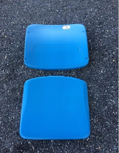 Blue Stadium seat plastic American Seating type 408