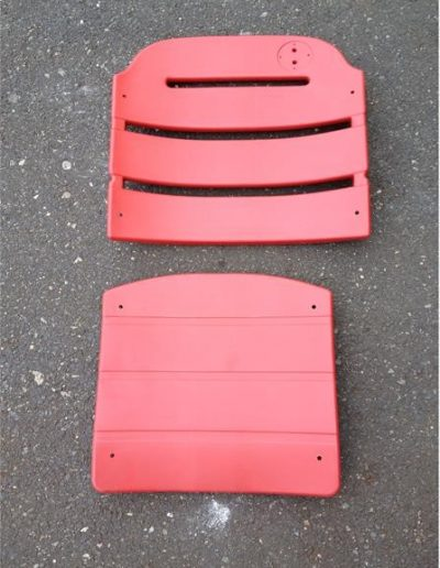 Red With High Slat Back