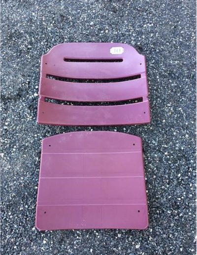 Magenta Burgundy Red Stadium Seat plastic American Seating