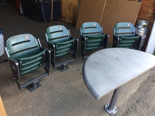 Vintage Wooden Ballpark Seats