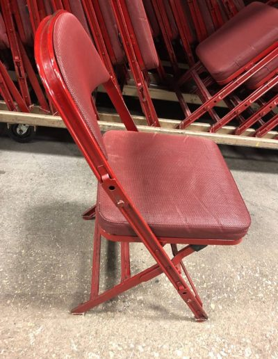 Clarin Model 4400 Red Folding Chairs