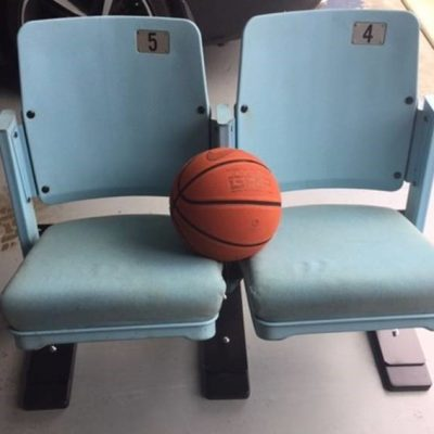 Dean Smith Center Dome seats on floor bracket stands