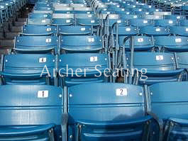 Rows of seating at Yankee Stadium