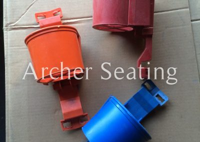Red, Blue, Orange Stadium seat Cup Holders