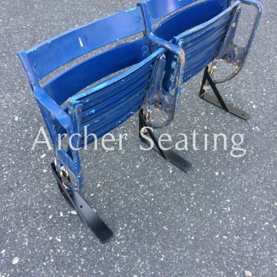 Baltimore Memorial Blue Metal Seats: Pair