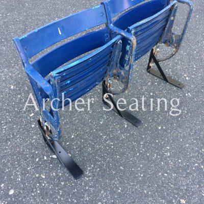 Baltimore Memorial Blue Metal Seats: Pair