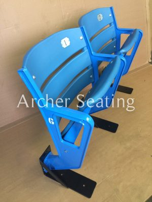 Pair of Yankee Seats from lower level refurb and slat backs